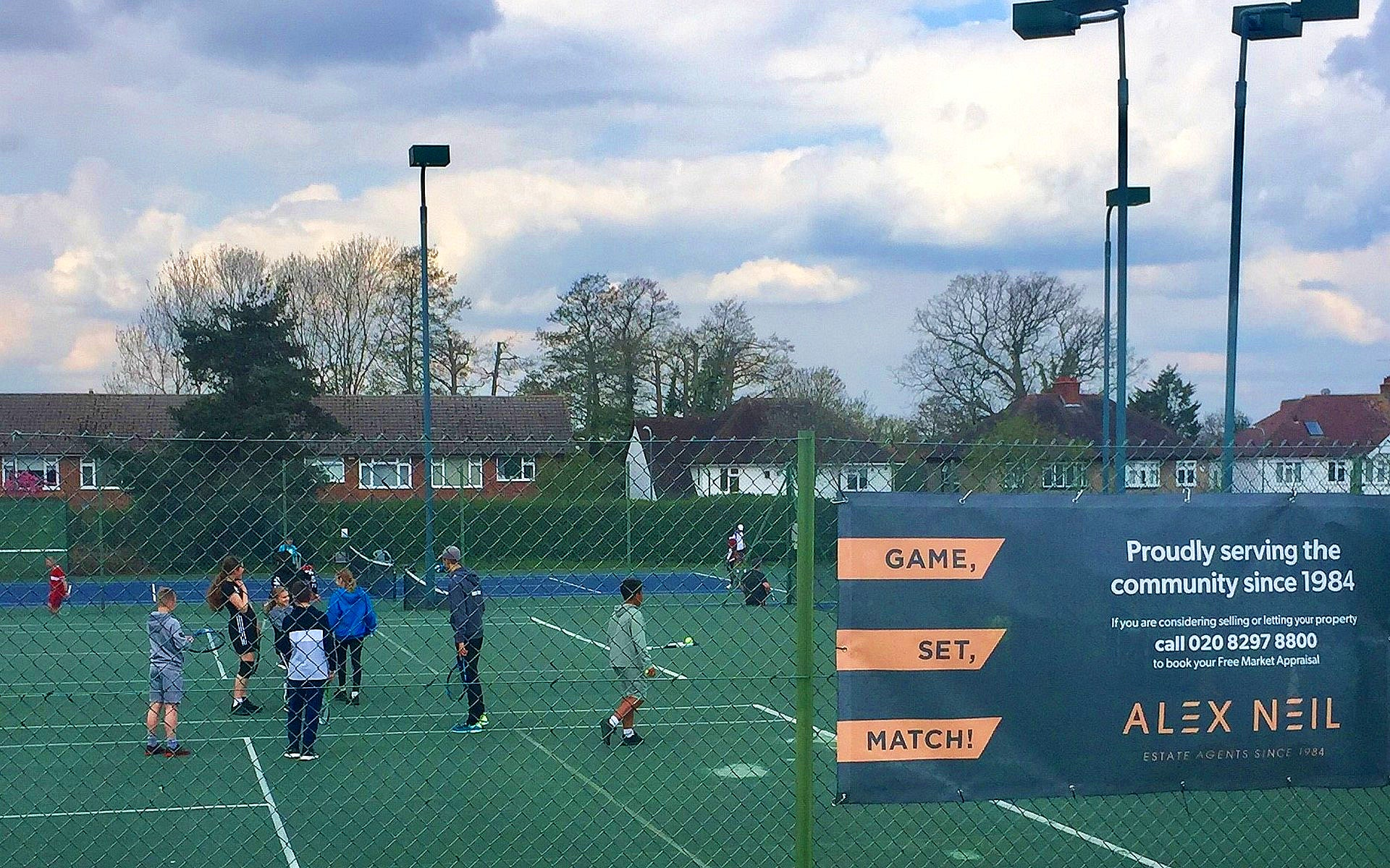 Players at Crescent Lawn Tennis Club Sidcup