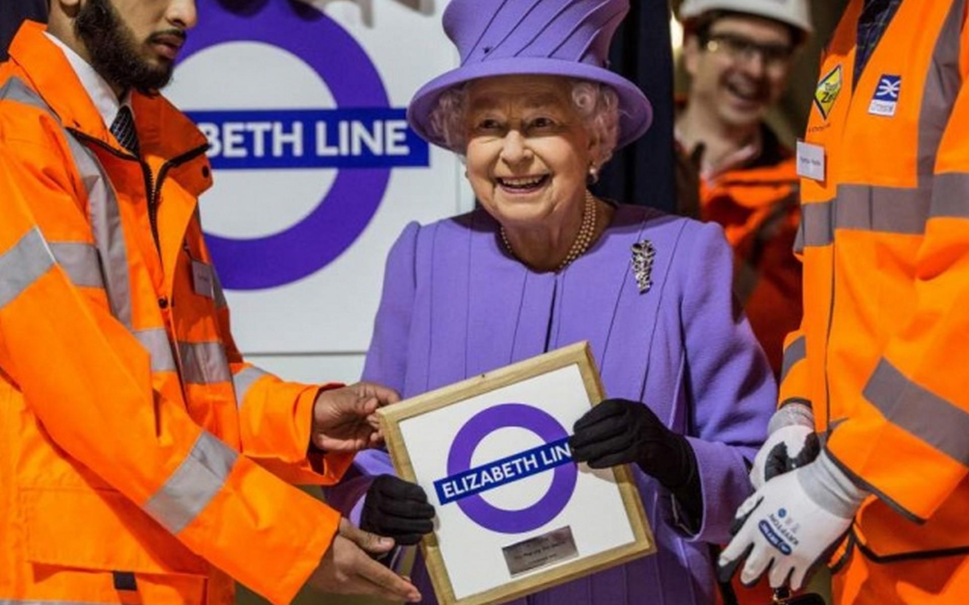 Queen Elizabeth II & Crossrail the Elizabeth Line