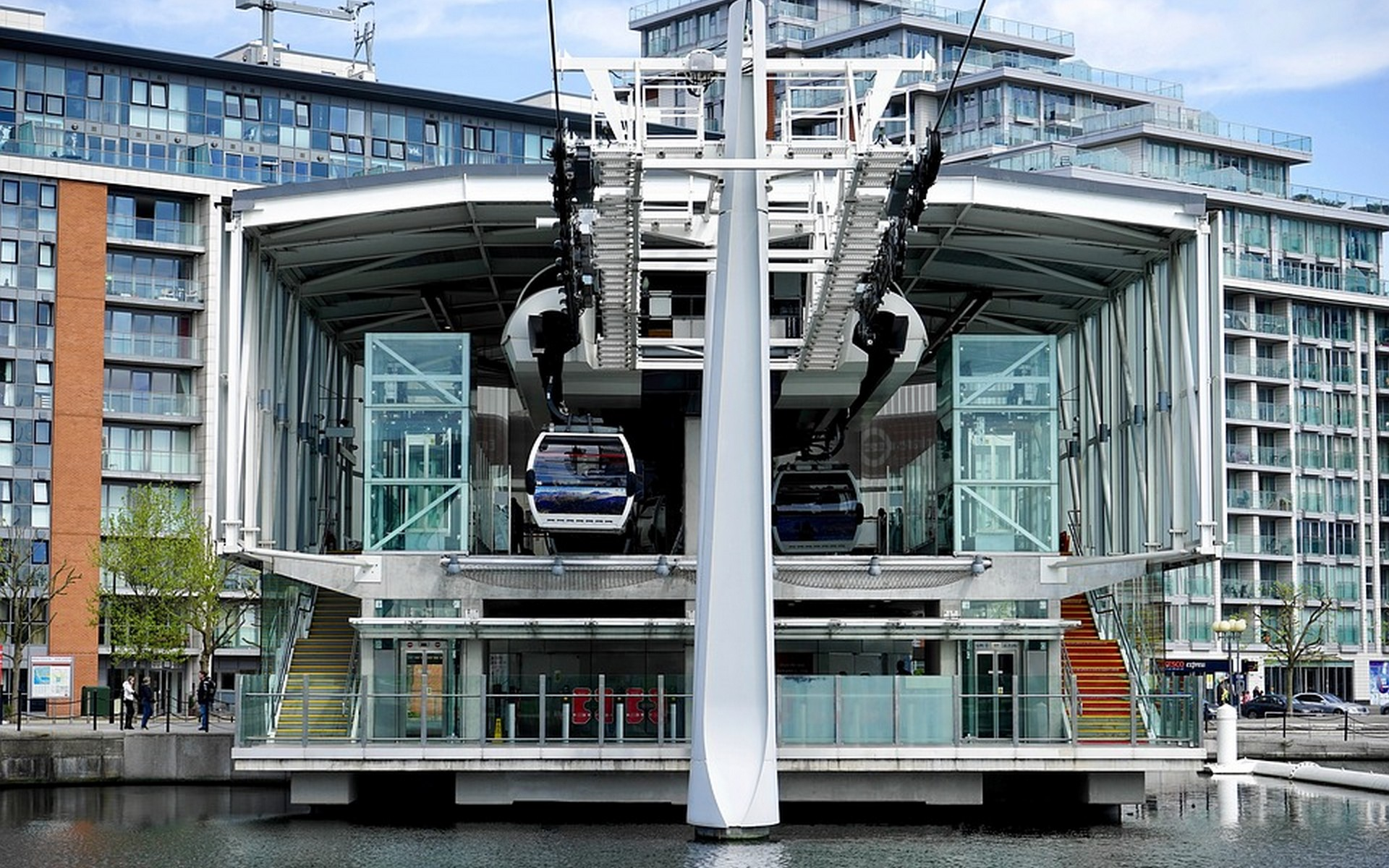 Emirates Air Line, Cable Car in Royal Docks, Docklands