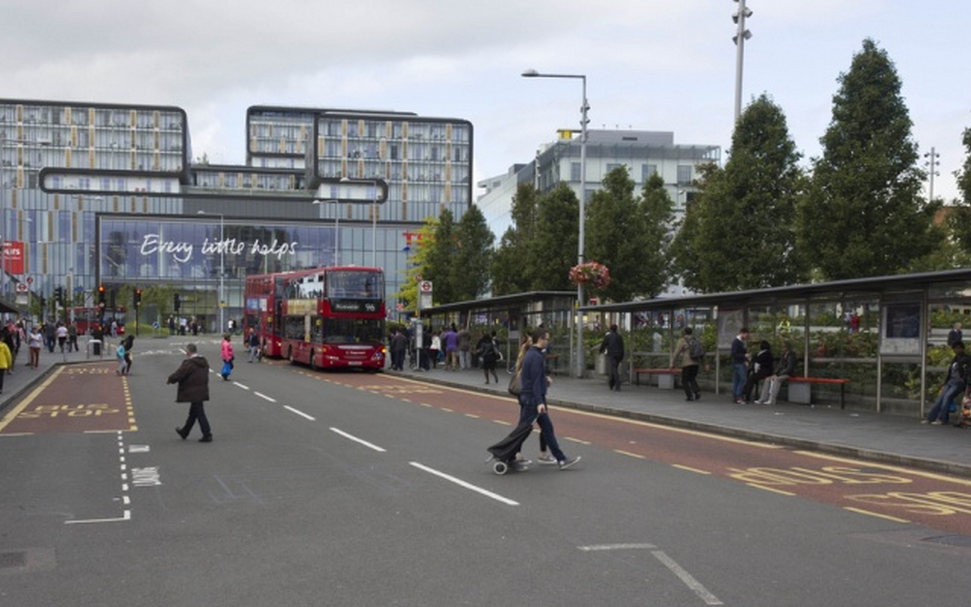 Busy Bus Station Woolwich, London SE18