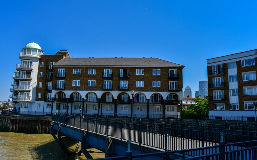Princes Riverside from the Thames Path